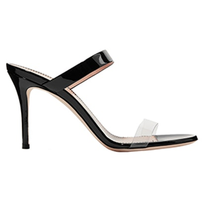 Ali 90 Patent-Leather and Perspex Sandals