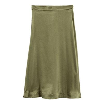 Silk-Blend Skirt