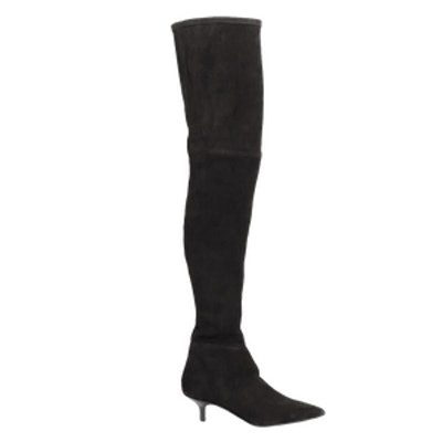 Kitten Heel Over The Knee Boot