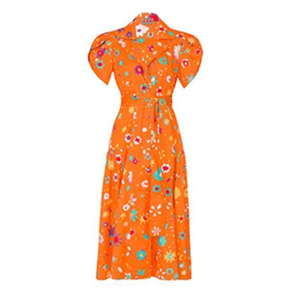 The Glades Dress in Blurry Ditzy Floral Orange