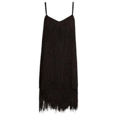 Long-Fringe Slip Dress