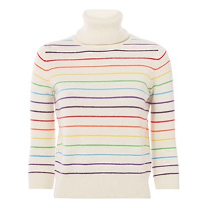 Cuckoo Rainbow Striped Sweater