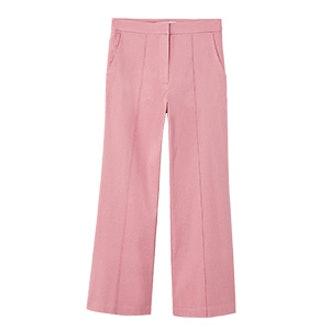 Straight Linen-Blend Trousers