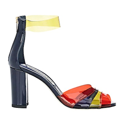 Brite Patent Leather & PVC Sandals