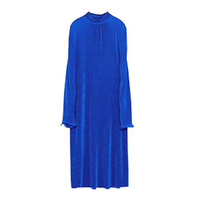 Micro-Pleated Long Dress