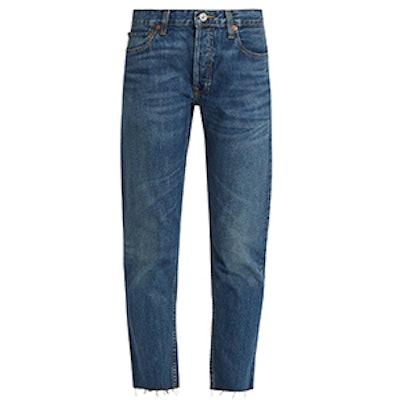 Originals Mid-Rise Slim-Leg Cropped Jeans