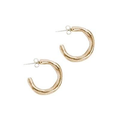 Hammered Midi Hoop Earrings
