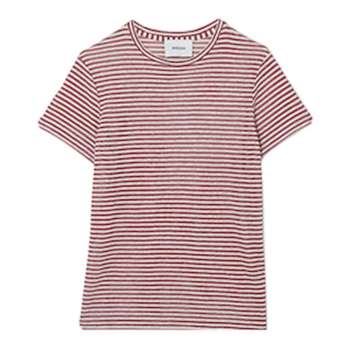 Guy Striped Linen-Blend Jersey T-Shirt