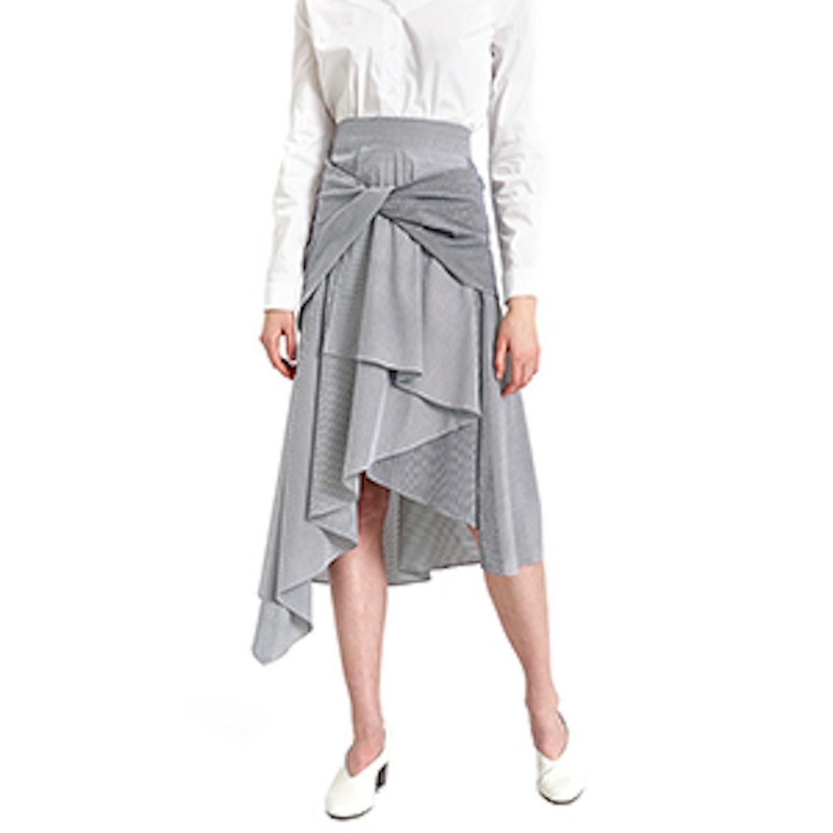 Twist Skirt In Navy/White
