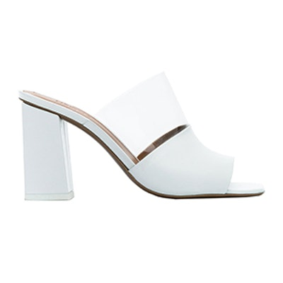 White Benzi 80 Leather PVC Sandals