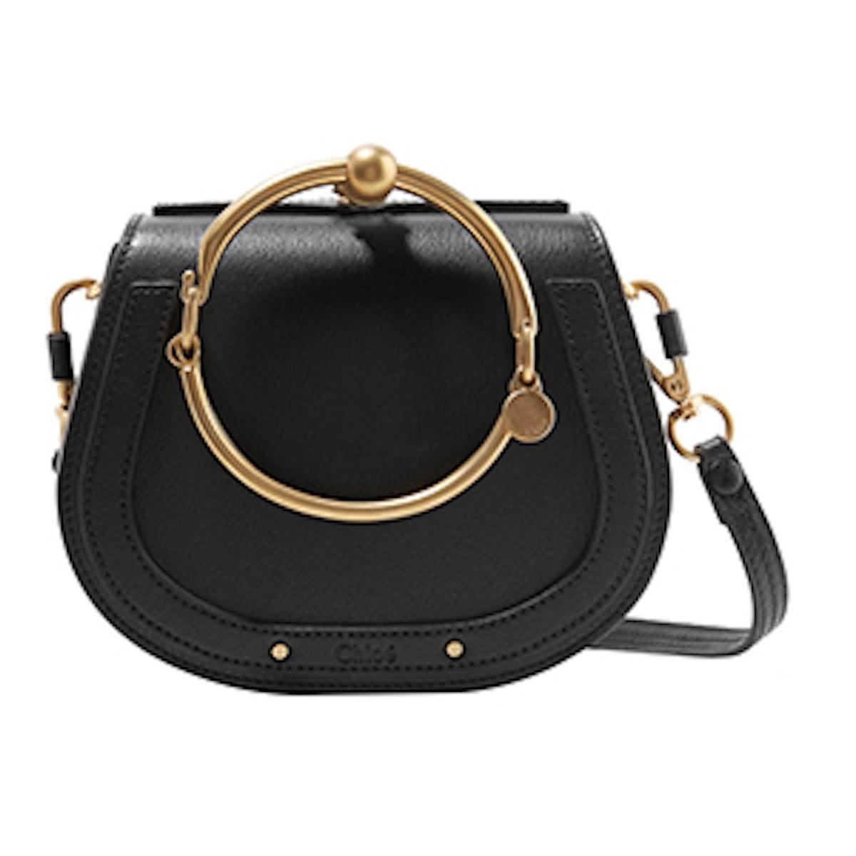 Nile Bracelet Small Textured-Leather Shoulder Bag