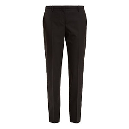 Mid-Rise Wool-Blend Cigarette Trousers