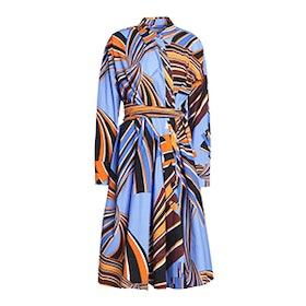 Printed Stretch Cotton-Poplin Shirt Dress