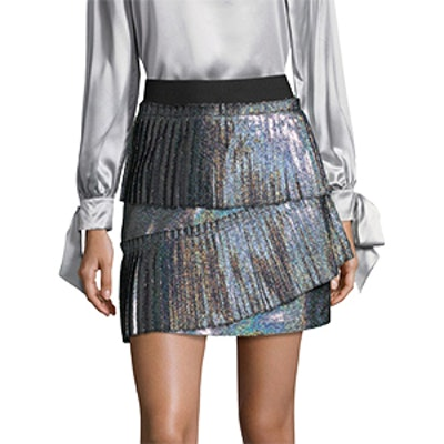 Joss Iridescent Pleated Skirt