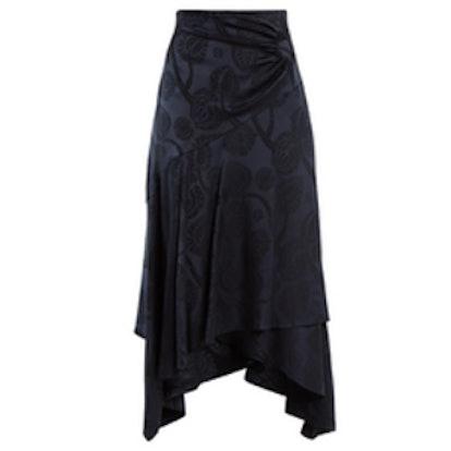 Peter Pilotto High-Rise Fluted Satin Skirt