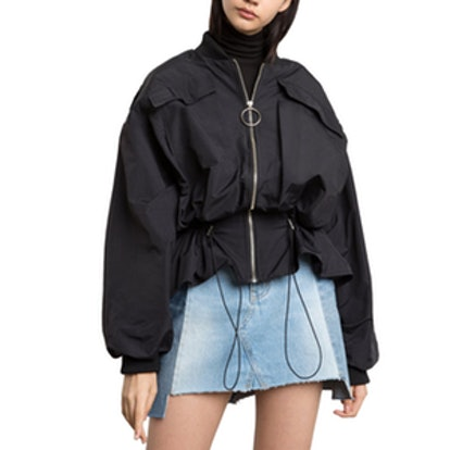 Peplum Parka Zip Jacket