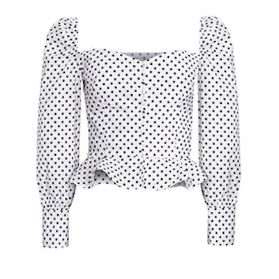 Polka Dot Valentina Bustier Shirt
