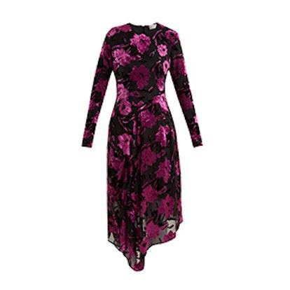 Alyssa Floral-Devoré Midi Dress