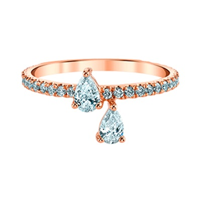 Princess Eternity Ring in Rose Gold