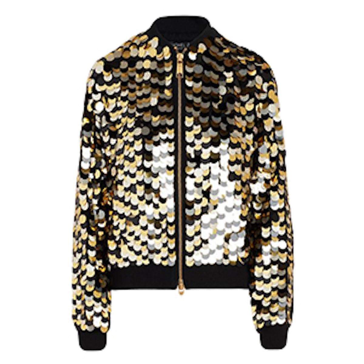 Emilia Paillette Embroidered Bomber Jacket