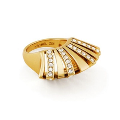Noelle Crystal Pavé Statement Ring