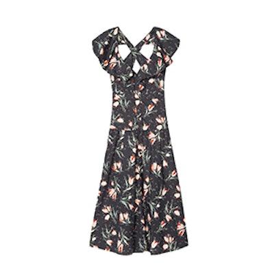 Ikat Tulip Poplin Dress
