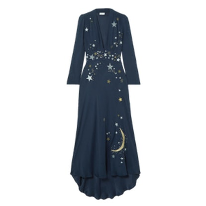 Margo Embellished Embroidered Georgette Midi Dress