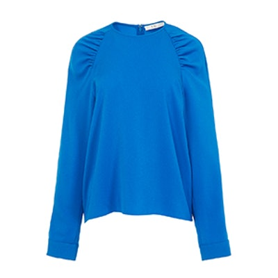 Savanna Crepe Shirred Sleeve Top