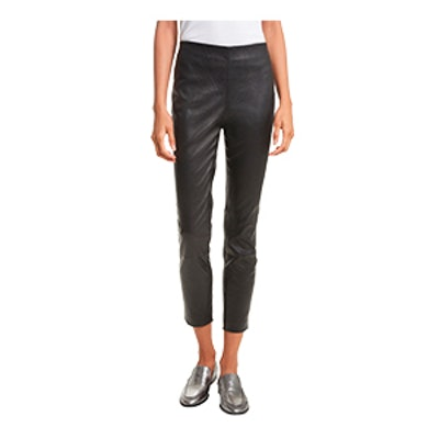 Simone Lambskin Leather Ankle Pants