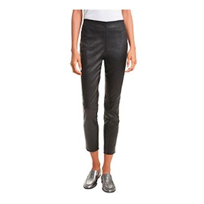 Simone Lambskin Leather Ankle Pants