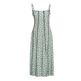 Seamed Bodice Crepe Midi Dress