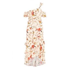 Jillian Cactus Flower Printed Midi Dress