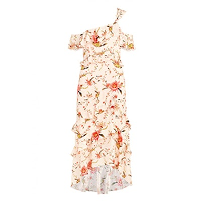 Jillian Cactus Flower Printed Midi Dress