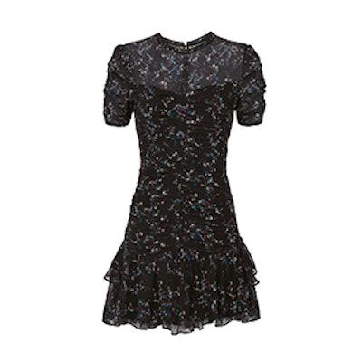 Carti Printed Ruched Mini Dress