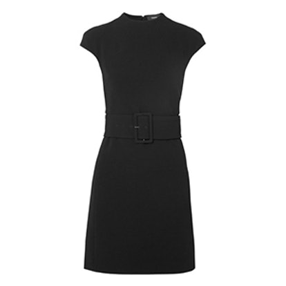 Mod Belted Crepe Mini Dress