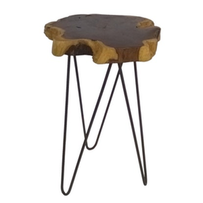 Live Edge Accent Brown Table