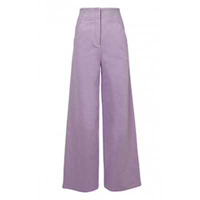 Garment Dyed Twill Wide-Leg Jean