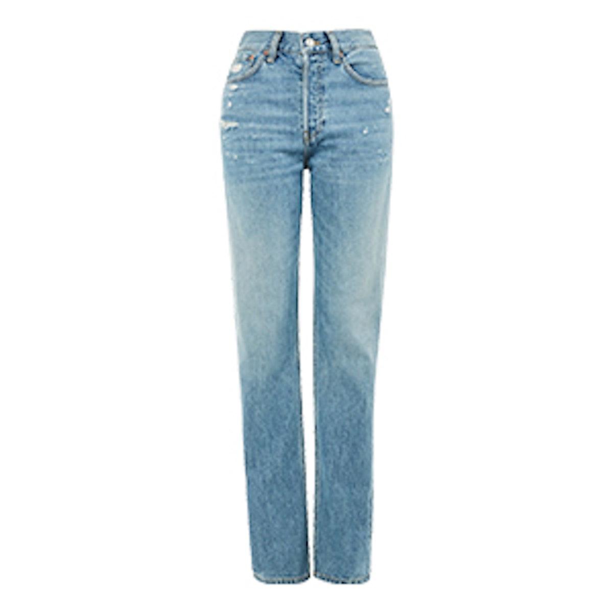 MOTO Mid Blue New Boyfriend Jeans