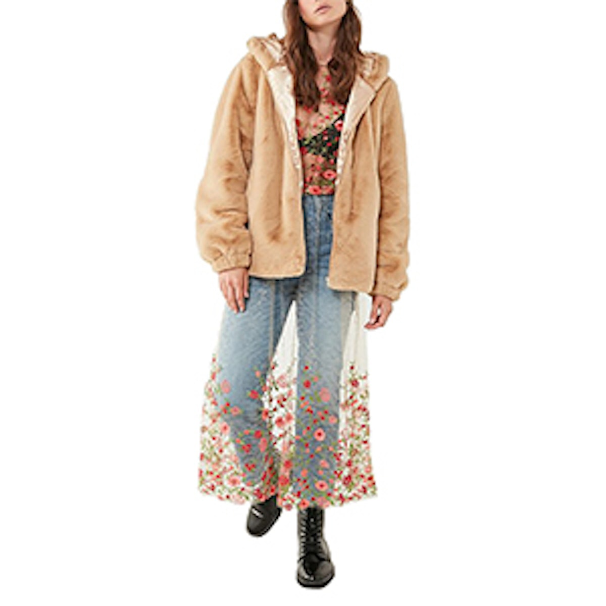 Lilly Zip-Up Faux Fur Jacket