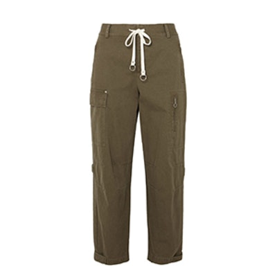 Washed Cotton-Canvas Tapered Pants