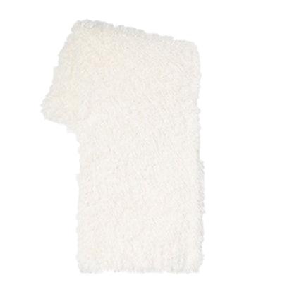 Faux Fur Sheepskin Throw In Ivory