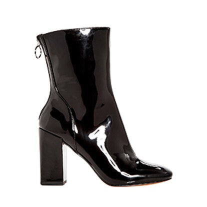 Women's Raina Patent Leather High Block Heel Booties