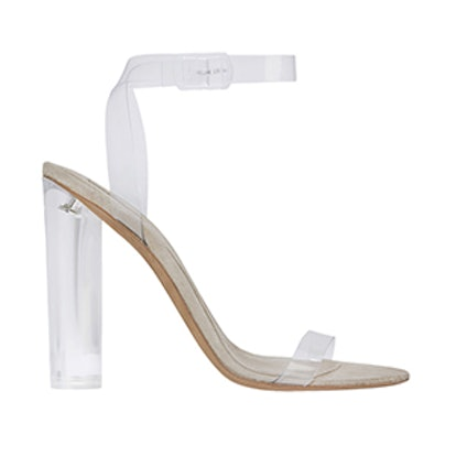 Transparent Ankle Strap Sandals