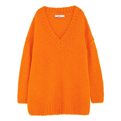 Oversized Sweater With Seam Details