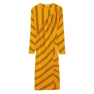 Striped Gathered Dress