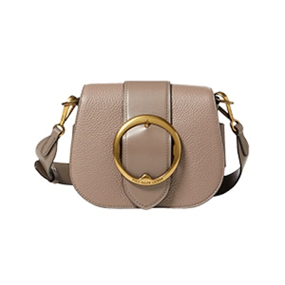Pebbled Leather Lennox Bag In Taupe