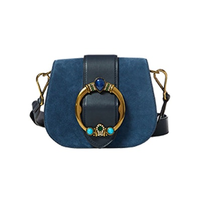 Jeweled Suede Lennox Bag