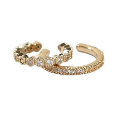 Dorian Gold Crystal Ear Cuff Set
