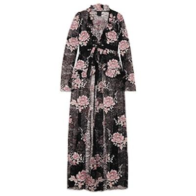 Floral Print Lace Jacket