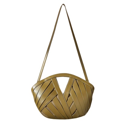 Petite Woven Basket Bag